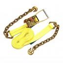 """Courroie 2"""" x 30' à cliquet avec crochet et chaîne"""
