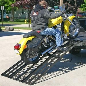 Rampe arqué pliable pour moto - 10 pieds