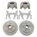 Ensemble de frein à disque/moyeu 3,5K E-Coated & Étriers acier inox